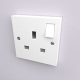 Electrical plug socket Stock Photos