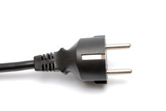 Electrical plug on white Royalty Free Stock Image