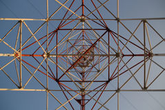 Electrical pole. An electrical pole viewed from down up Stock Photography
