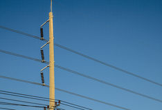 Electrical pole Royalty Free Stock Photography