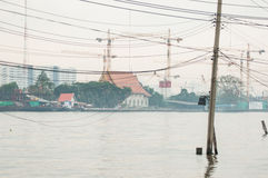 Electrical pole in river. Taken from Bangkok Thailand Royalty Free Stock Image