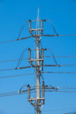 Electrical poles of high voltage Royalty Free Stock Images