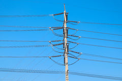 Electrical poles of high voltage Stock Photography
