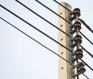 electrical Polonais et lignes électriques photos libres de droits
