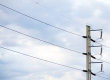 electrical Polonais et lignes électriques photo libre de droits