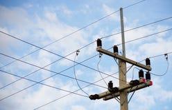 electrical Polonais et lignes électriques image libre de droits