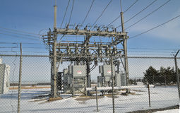 Electrical poower distribution center. Image of an elecrical power distribution center Stock Photo