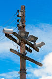 Electrical posts Royalty Free Stock Images