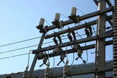 Electrical Power. Power suppl for commercial use royalty free stock photography