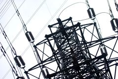 Electrical power. Part of the electrical power, close up Stock Images