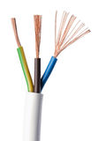 Electrical power cable IEC standard over white Stock Photo