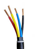 Electrical power cable Stock Images
