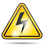 Electrical power danger icon. Stock Photo