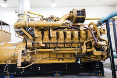 Electrical power generator. Yellow standby electrical power generator Royalty Free Stock Image