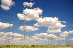Electrical Power Grid  Royalty Free Stock Image
