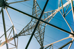 Electrical power grid stock photo