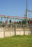 Electrical power high voltage substation Stock Image