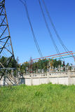 Electrical power high voltage substation Royalty Free Stock Image