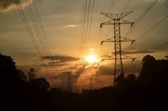 electrical tower Stock Photos