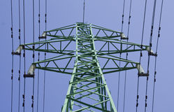 Electrical power line. On blue sky background Stock Image