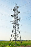 Power line tower isolated Stock Photo
