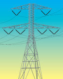 Electrical power line Royalty Free Stock Photos