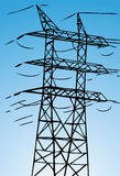 Electrical Power Line. Image of a hand drawn electrical tower Royalty Free Stock Photography