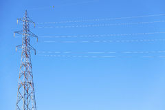 Electrical power line. Color image Royalty Free Stock Photos