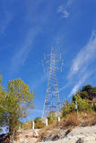 Electrical power line tower Stock Photography