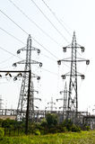 Power lines towers #1 Stock Images
