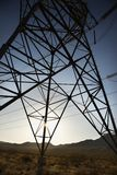 Electrical power lines. stock photo