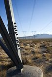 Electrical power lines. stock image