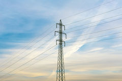 Electrical power lines. Electrical power and energy. Alternative Stock Images