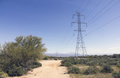 Electrical Power Lines Southwestern USA Stock Photo