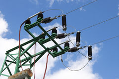 Electrical power lines Royalty Free Stock Images