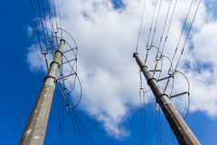 Electrical Power Lines Towers Royalty Free Stock Images