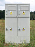 Electrical Power Meter Box. Standing outdoors royalty free stock image