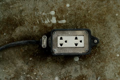 Electrical power outlet Royalty Free Stock Image