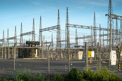 Electrical Power Plant In Laval Quebec Stock Image