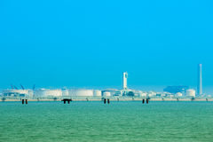 Electrical power plant near the sea, Rayong, Thailand Stock Image