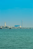 Electrical power plant near the sea, Rayong, Thailand Stock Photography