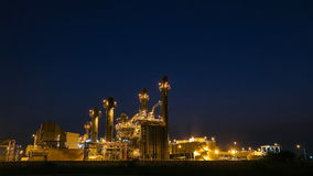 Electrical power plant, time lapse stock video