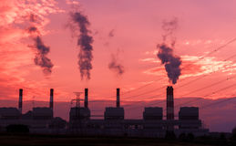 Electrical power plant Stock Photography