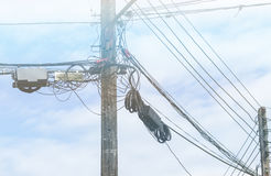 Electrical power pole Stock Photo