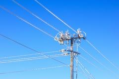 Electrical power pole Stock Photos