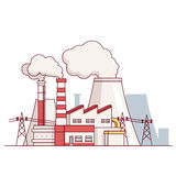 Electrical power production plant Royalty Free Stock Photos