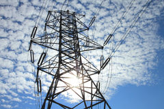 Electrical Power Pylon Stock Images