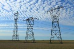Electrical Power Pylon Stock Photo