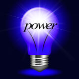 Electrical Power Represents Light Bulb And Bright Royalty Free Stock Images