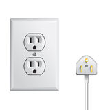 Electrical power socket Royalty Free Stock Photo
